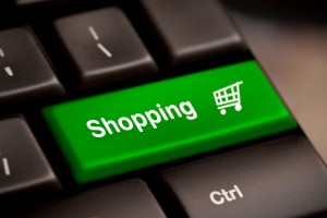 green shopping enter button key